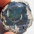 Black precious opal (Tertiary; Wollo Province, Ethiopia) 5 (48163610342).jpg