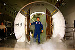 Blaha steps out of ISS module mockup.jpg