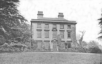 Anne Brontë - Blake Hall, illustration, reproduced from photographs taken at the end of 19th century. It was demolished in 1954.