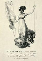 Sophie Blanchard, la célèbre aéronaute française / CC0 Luigi Rados sur Wikimedia Commons
