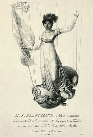 Sophie Blanchard - Sophie makes her ascent in Milan on 15 August 1811 to mark the 42nd birthday of Napoleon.