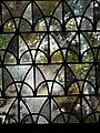 Blick durch ein Kirchenfenster der alten St. Servatius Kirche in Koblenz-Güls.jpg