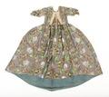 Blommig klänning, i modell robe à la francaise, 1760-tal - Livrustkammaren - 100572.tif