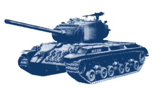 A generic U.S. World War II tank, a derivate o...