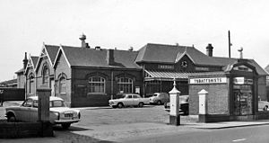 Blyth railway station - View from street in 1965