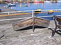 Boat shaped bench at Small Boat Harbour - geograph.org.uk - 1803644.jpg