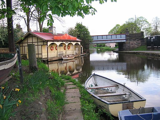 Boathouse and rowing boats