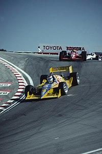 Bobby Rahal and Scott Pruett 1991 Laguna Seca.jpg