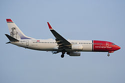 Boeing 737-800 der Norwegian Air Shuttle