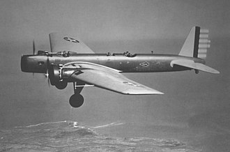 Boeing YB-9 - Y1B-9 test flight, 1932.
