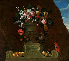 Still-life with a parrot.