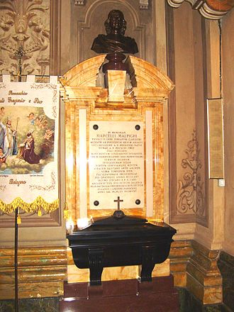 Marcello Malpighi - Malpighi's tomb in Bologna