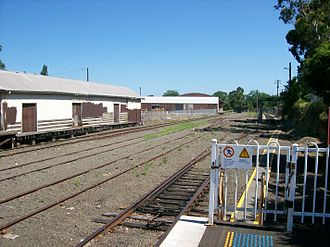 South Coast railway line, New South Wales - The end of the line at Bomaderry station