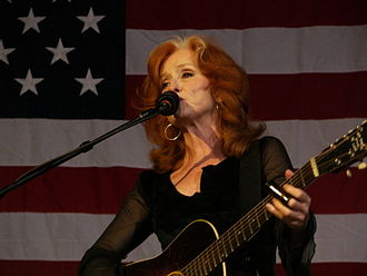 Women in music -  Bonnie Raitt is an American singer, guitar player and piano player. A winner of ten Grammy awards, she is also noted for her slide guitar playing.