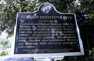 Borden, Indiana - Borden Institute Historical Marker