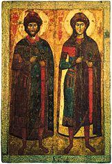 Boris et Gleb (icône du monastère de Savvo-Vicherskovo)