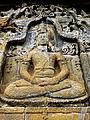 Borobudur - Lalitavistara - 012 E, The Bodhisattva descends to Earth accompanied by the Gods (detail 3) (11247926783).jpg