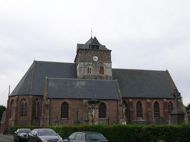Saint-John-the-Baptist's church in Borre (Nord, France).