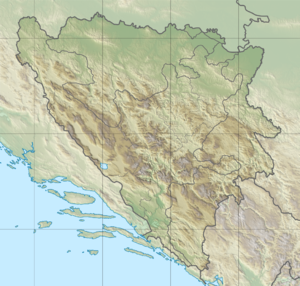 Location of the Buna mouth in Bosnia and Herzegovina