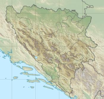 Босански санџак на мапи Босне и Херцеговине