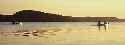 Lago Saganaga en el Boundary Waters Canoe Area Wilderness