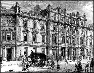 Bow Street Magistrates' Court - 19th Century depiction of Bow Street Magistrates' Court, to which the Bow Street Runners were attached.