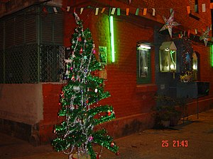Bow Barracks - the Christmas tree