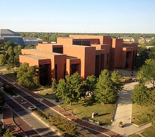 Bracken Library academic library at Ball State University in Muncie, Indiana