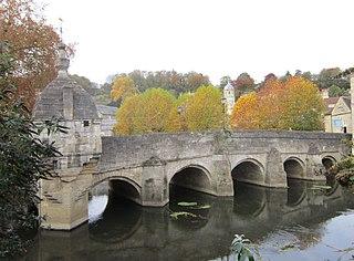 Bradford-on-Avon Town in Wiltshire, England