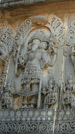 Brahma carving from Halebid in Karnataka.
