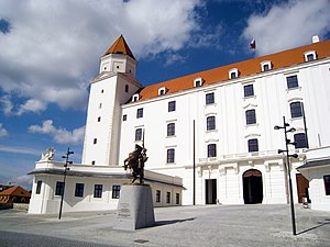 Bratislava Castle - Main entrance of the castle (after renovation)