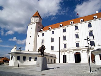 Bratislava Castle - Main entrance of the castle (after renovation)