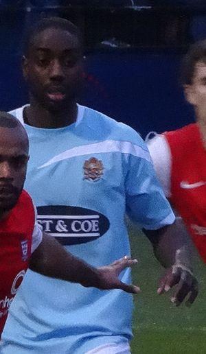 Brian Saah - Saah playing for Dagenham & Redbridge in 2014