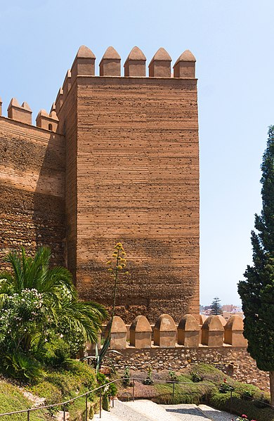 File:Brick Tower Alcazaba, Almeria, Spain.jpg