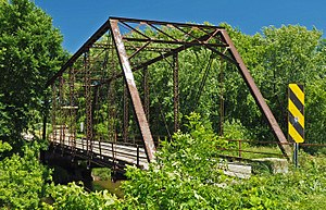 National Register of Historic Places listings in Meeker County, Minnesota - Image: Bridge 90980 oblique