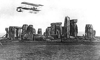 Bristol Boxkite - Bristol Boxkite flying over Stonehenge on Salisbury Plain