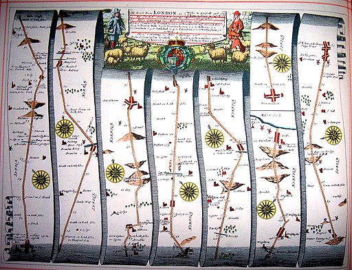 Britannia Atlas Newmarket to Wells and Bury Edmunds 1675