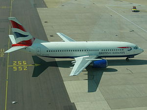 British Airways B737-300 at London Gatwick Airport