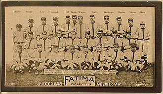 History of the Brooklyn Dodgers - Brooklyn Dodgers Team Photograph, 1913