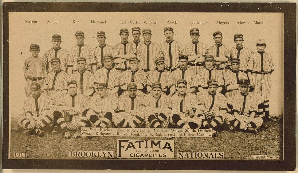 Brooklyn Dodgers Team Photograph, 1913