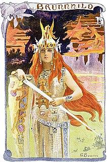 Brunhild Valkyrie or shieldmaiden in Norse mythology