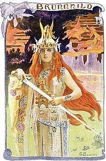 Brunhild Valkyrie in Norse mythology
