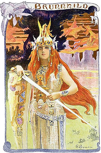 "Brunhild - ""Brunnhild"" (1897) by Gaston Bussière"