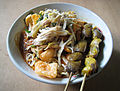 Bubur Ayam Chicken Liver-Gizzard Satay.JPG