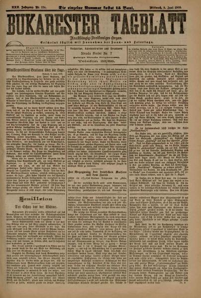 File:Bukarester Tagblatt 1909-06-09, nr. 124.pdf