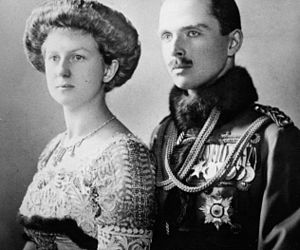 Charles Edward, Duke of Saxe-Coburg and Gotha - The Duke and Duchess of Saxe-Coburg and Gotha, 11 October 1905.