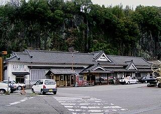 railway station in Taketa, Oita prefecture, Japan
