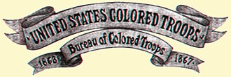 Bureau of Colored Troops - Banner for the Bureau of Colored troops
