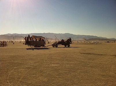 Burning Man 2011 Victor Grigas Horse and buggy IMG 4699.JPG
