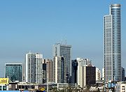 A main business district in Ramat Gan outside Tel Aviv, where the diamond stock exchange is located